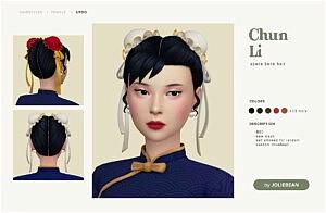Chun Li Hair sims 4 cc