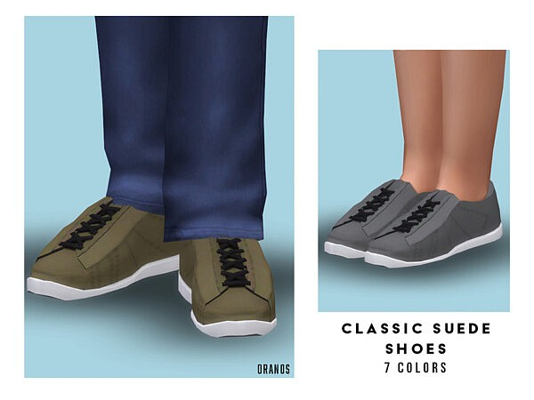 Classic Suede Shoes sims 4 cc