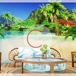 Coconut Beach Mural sims 4 cc