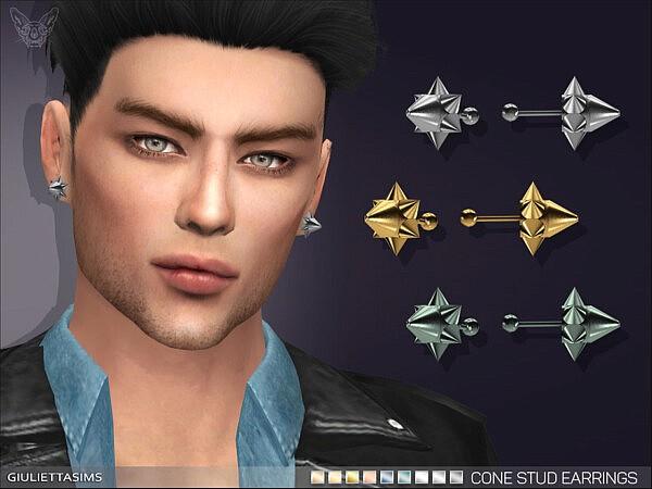 Cone Stud Earrings sims 4 cc