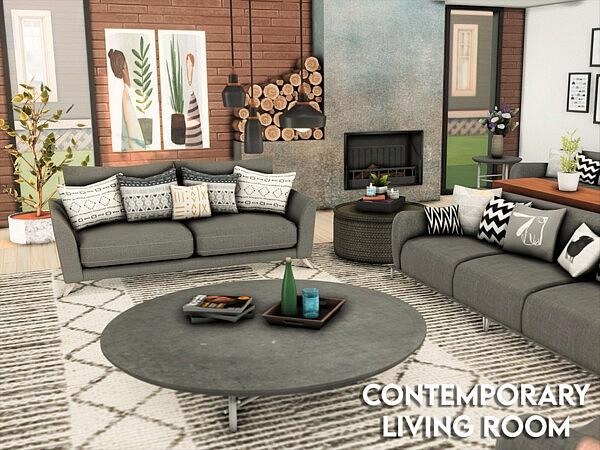 Contemporary Living Room sims 4 cc