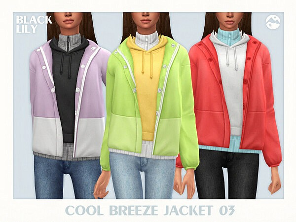 Cool Breeze Jacket 03 sims 4 cc