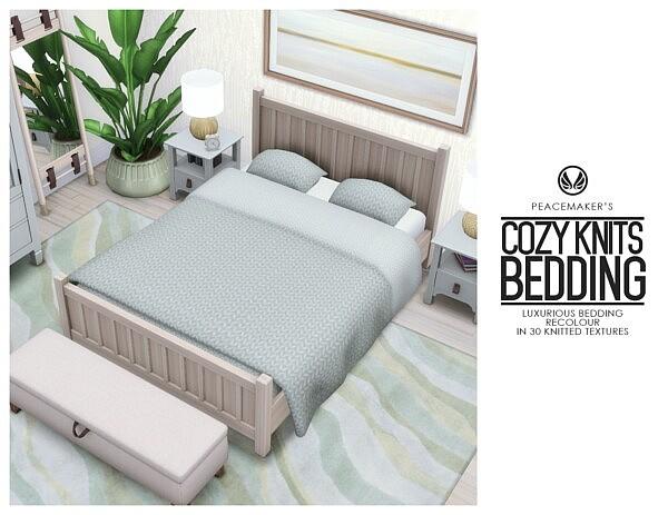 Cozy Knits Bedding sims 4 cc