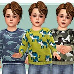 Cozy Sweater for Toddler 03 sims 4 cc