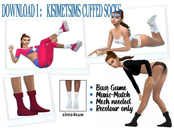 Cuffed socks from Sims 4 Sue