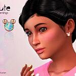 Cute Child Earrings sims 4 cc