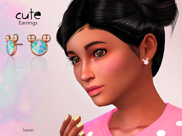 Cute Child Earrings sims 4 cc
