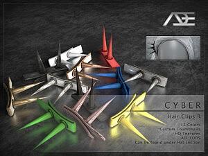 Cyber Hair Clips R sims 4 cc