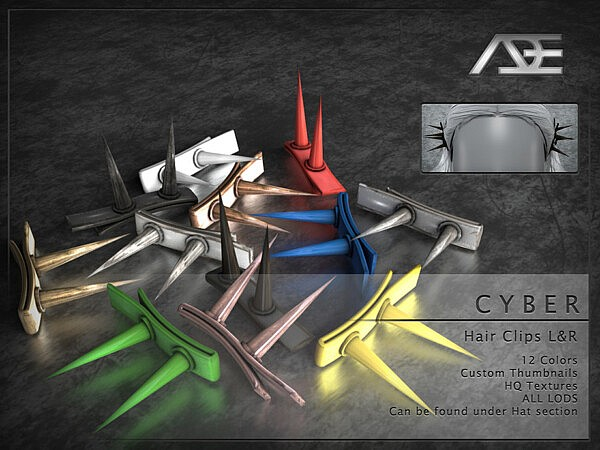 Cyber Hair Clips sims 4 cc