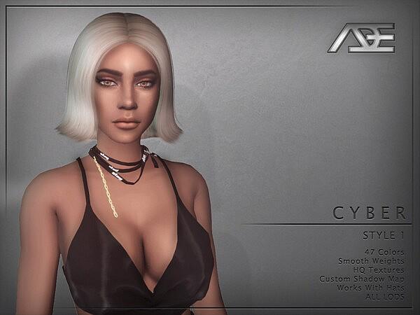 Cyber Style 1 Hair sims 4 cc