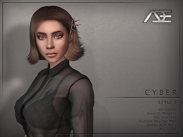 Cyber Style 2 Hair sims 4 cc