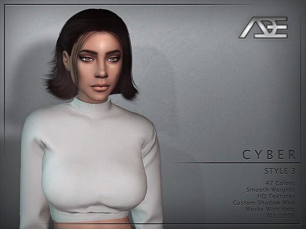 Cyber Style 3 hair sims 4 cc