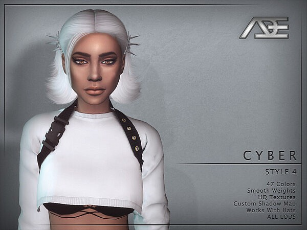 Cyber Style 4 Hair by Ade Darma from TSR