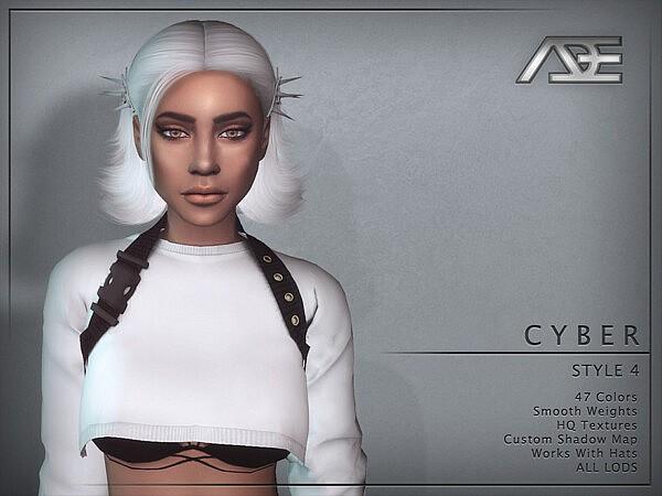 Cyber Style 4 Hair sims 4 cc