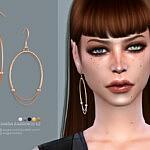 Dagmara earrings v2 sims 4 cc