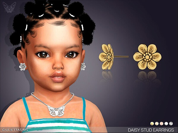 Daisy Stud Earrings For Toddlers sims 4 cc