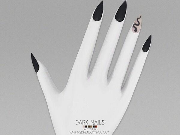 Dark Nails sims 4 cc