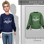 Daven Top sims 4 cc