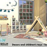 Decors and childrens toy sims 4 cc