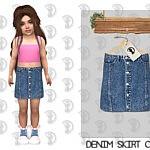 Denim Skirt C380 sims 4 cc