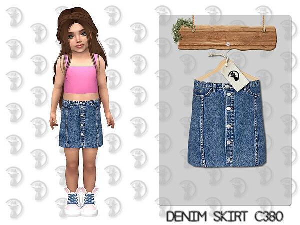 Denim Skirt C380 by turksimmer from TSR
