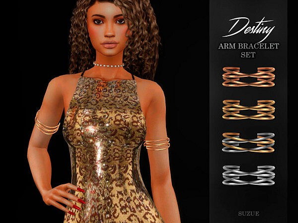 Destiny Arm Bracelets Set sims 4 cc