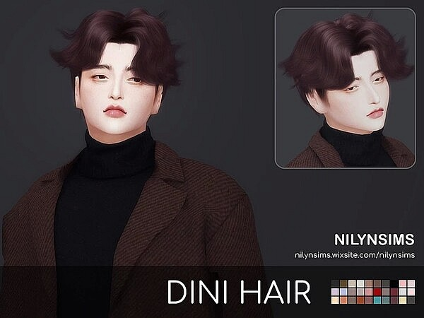 Dini Hair sims 4 cc