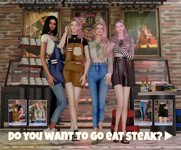 Do you want to go eat steak with me Set sims 4 cc