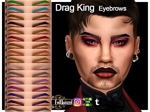 Drag King Eyebrows sims 4 cc