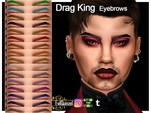 Drag King Eyebrows by EvilQuinzel from TSR