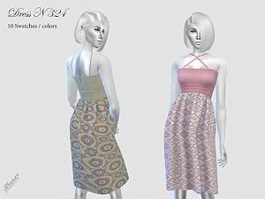 Dress N324 sims 4 cc