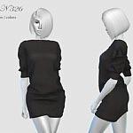 Dress N326 sims 4 cc