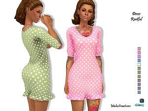 Dress Rootful sims 4 cc