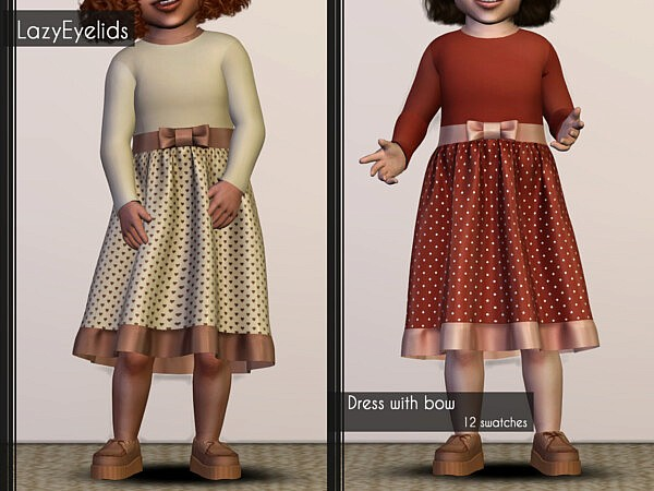 Dress with bow sims 4 cc