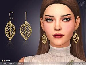 Drop Leaf Earrings sims 4 cc