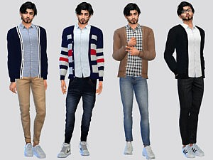 Dunne Casual Cardigan sims 4 cc