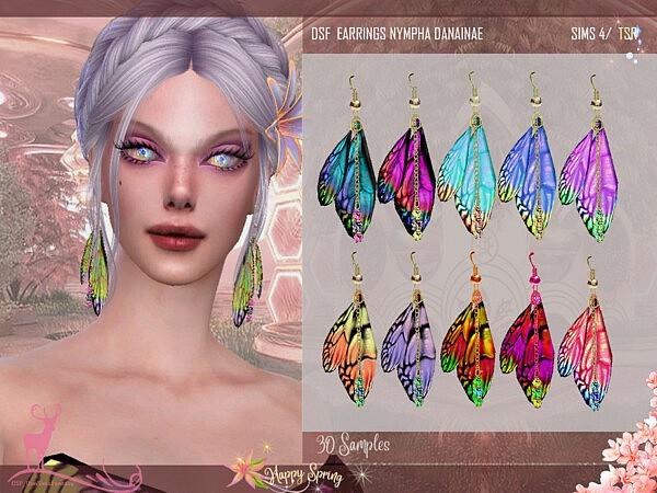 EARRINGS NYMPHA DANAINAE sims 4 cc