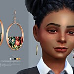 Early Spring earrings sims 4 cc