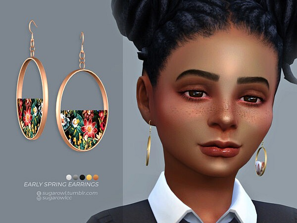 Early Spring earrings by sugar owl from TSR