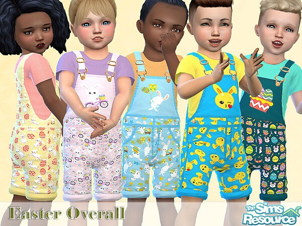 Easter Overall sims 4 cc