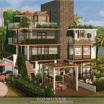 Eco Sky House sims 4 cc