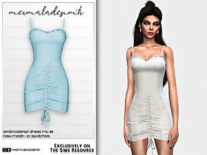 Embroidered Dress MC181 sims 4 cc