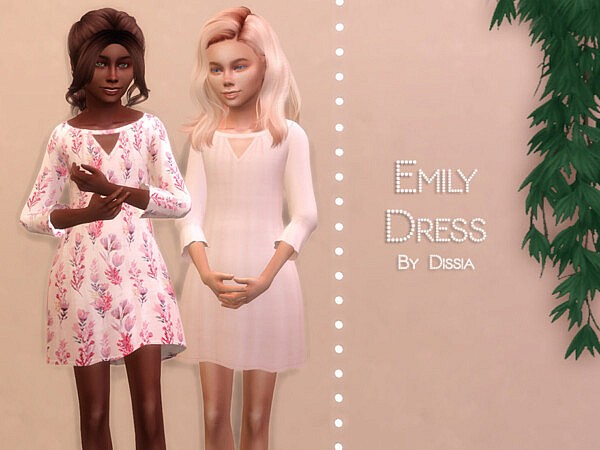 Emily Dress Kids sims 4 cc