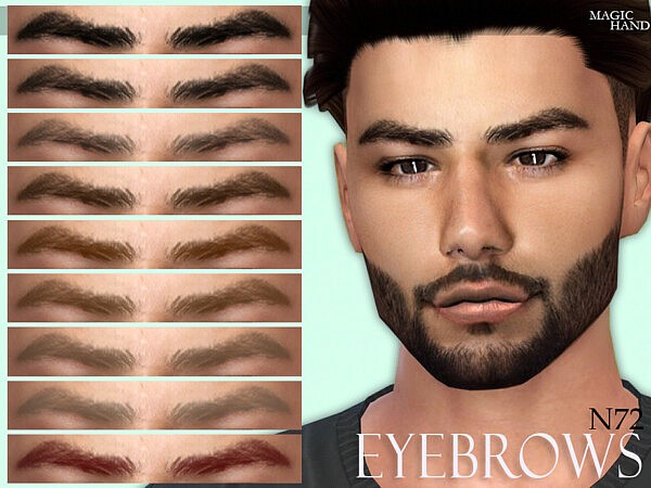 Eyebrows N72 sims 4 cc