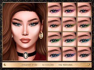 Eyeliner 100 sims 4 cc