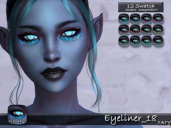 Eyeliner 18 sims 4 cc