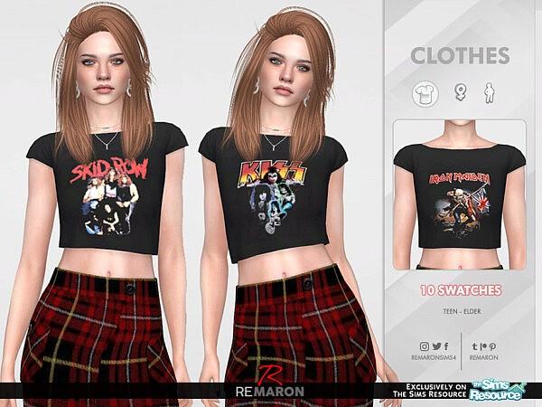 F Bands Shirt 02 sims 4 cc