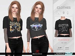F Bands Shirt 03 sims 4 cc