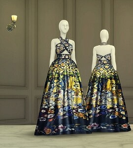 F Collection Dress sims 4 cc