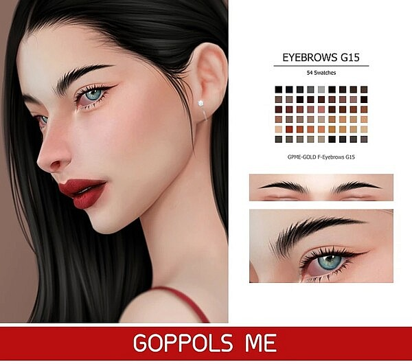 F Eyebrows G15 sims 4 cc